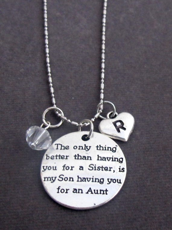 Personalized Aunt Necklace, Aunt Gift Jewelry, Aunt Keepsake Gift, Gift for Aunt, Keepsake Momento for Aunt, Free Shipping In USA