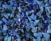 Destash Glass Frit Blend Blues Dragonfly Glassworx Into The Night COE 94-96 0.1oz Bag