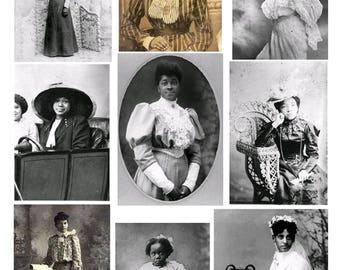 African American Women No. 3 - Digital Collage Sheet - Instant Download
