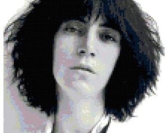 Patti Smith digital pattern