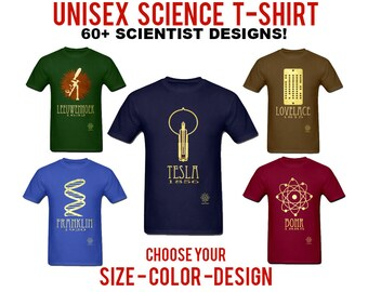 Science Tshirt - Rock Star Scientist Shirt, Geek Gift, Chemistry Shirt, Physics Tshirt, Geeky Clothing, Nerdy Gift, STEM Educational Design