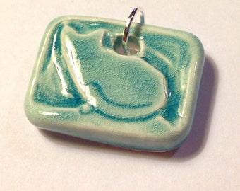 Cat Porcelain Ceramic Pendant