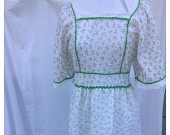 SALE- Flower Child Dress-Vintage Maiden Dress
