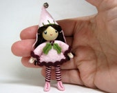 Elf Bendy Doll, Waldorf  Christmas Elf Doll, Felt Bendable Doll, Nature table, Holiday kindness Tradition, Small Miniature,  Ornament option