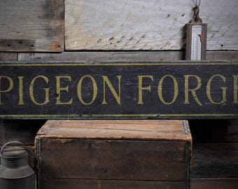 Pigeon Forge Sign, Pigeon Forge Decor, Smoky Mountain Decor, Smoky Mountain Sign, Pigeon Forge - Rustic Hand Made Wooden Sign ENS1000922