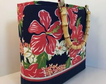 PURSE, HANDBAG, Alfred Shaheen fabric, Summer handbag, Woman's purse, purse, Handmade Handbag, Woman's Bag, Purse, HANDBAG, Fabric handbag