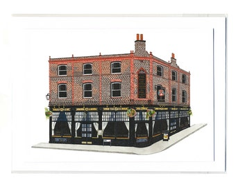 The Rose & Crown, Greenwich - Notecard