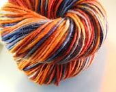 SALE... Was 8.50... Now 6.00...KARMA...handspun, handpainted wool yarn...4oz...180yd