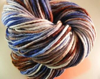 SALE... Was 8.50... Now 6.00...COWBOY...handspun, handpainted wool yarn...4oz...180yd