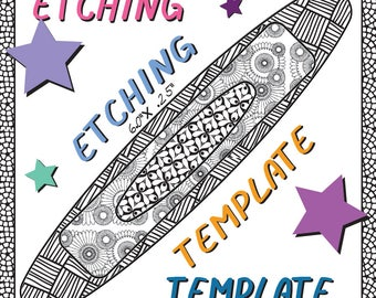 Patch Frame Work Making jewelry Etching Patch work Cuff pattern Download -DT-LIST-3