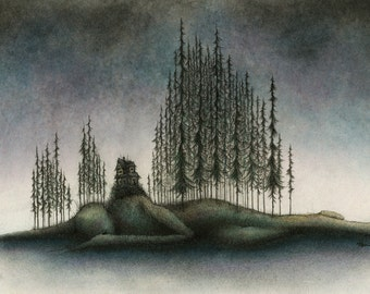 LIMITED EDITION fine art print - Last Night I Dreamed That I Was A Child Out Where The Pines Grow Wild And Tall