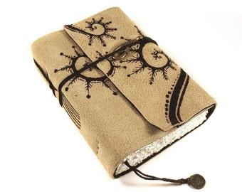 Leather Journal, Handmade Notebook, Travel Journal, Overgrown