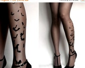 Yay-HolidaysSale:))) brand new color Grey sexy BATS tattoo THIGH HIGH stockings / nylons
