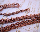 24 Inch Copper Link Chain - 4mmx3mm links