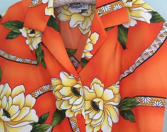Vintage Hilo Hattie's Hawaii blouse shirt plus size