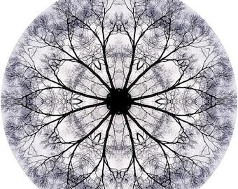 Mandala Art, Meditation Art, Peaceful Geometric Art Print, Nature Inspired Abstract Art Print in Periwinkle Blue