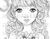 Hana - Coloring Page