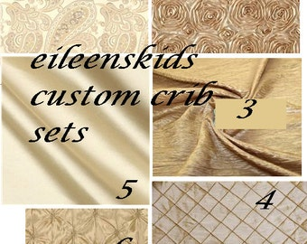 Custom Neutral Crib Set using Champagne and Ivory fabrics