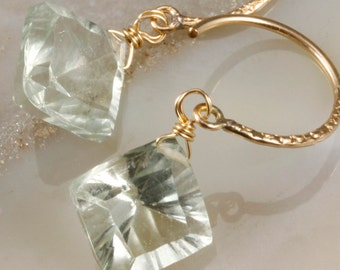 FINAL SALE - Green Amethyst Earrings