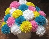For Spencer 50 DIY Tissue Paper Flowers, peach, light pink, rose