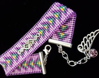 Fancy pink and purple bracelet