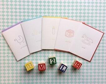 Bundle of Five Baby Cards