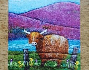 Highland Cow Printed Greetings Card