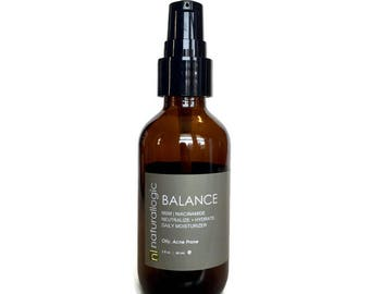Organic Balance Daily Light Moisturizer. Normal, Combination, Oily and Problematic Skin Types. All Natural and VEGAN.