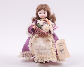 Vintage Bradley Doll Sweet With Tag - Purple Dress with Jewels  ~ The Pink Room ~ 161024