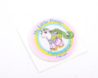 My Little Pony, Vintage, Puffy Sticker, *Flashprance*, Accessory, Unused, Round Sticker, Came with Ponies ~ The Pink Room ~ 161122