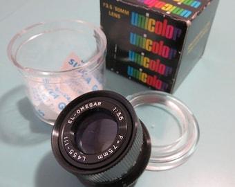 SJK Vintage -- My Dad's Estate -- Vintage Unicolor Enlarger Enlarging Lens F3.5 50mm,  Like New Unused  (1980's)