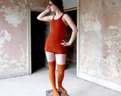 RESERVED LISTING  1920s Jantzen Orange Rust Wool Bathing Suit XS