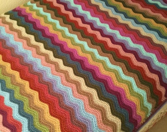 Crochet Blanket / Crochet Throw/Cottage Weekend Blanket / Crochet Afghan/ Single bed size/ Three Season Blanket Ready to ship