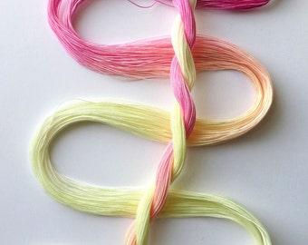 "Size 80 ""Peace"" hand dyed thread 6 cord cordonnet tatting crochet cotton"