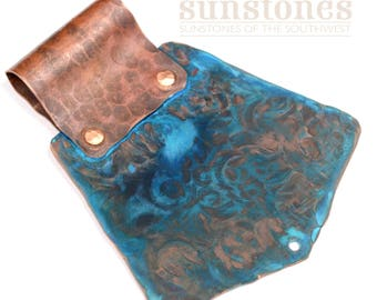 Handmade Copper Pendant Component with Bail F0654