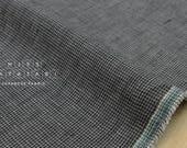 Japanese fabric 100% linen yarn dyed - tiny herringbone - charcoal - 50cm