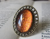 Prism Collection: Seelie Magic - Color-shifting Iridescent Glitter Adjustable Ring