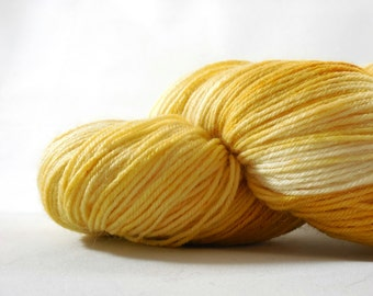 "Anglophile BFL fingering yarn in ""Custard"" from AnniePurl"