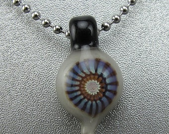 ON SALE Handmade Lampwork Glass Focal Mini Pendant by Jason Powers SRA