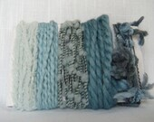 Blue Yarn Scraps Fiber Art Yarn Weaving Supplies 1515