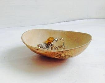 Tiny Gourd Bowl. Oaxaca, Mexico. Salt bowl, Nightstand Bowl, Prep Bowl.