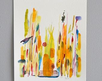 No.2 (Tipi) and original watercolor painting