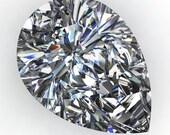 NEO moissanite - pear cut NEO moissanite, near colorless moissanite, loose stones