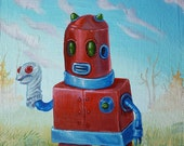 Sock Puppet Robot - Original painting by Mr Hooper of Nashville Tennessee