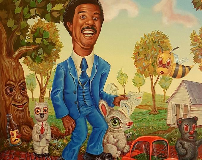 A Stranger Visits Bakertown - Original painting by Mr. Hooper of Nashville, Tennessee