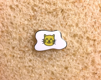 Kitty Side Up = Hard Enamel Pin