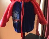 18 inch doll clothes fun THOMAS THE TRAIN theme hooded fleece jacket