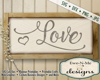 Wedding SVG - Valentine svg - Love SVG cut file - Heart SVG - valentine or wedding stencil - Commercial Use svg, dfx, png, jpg