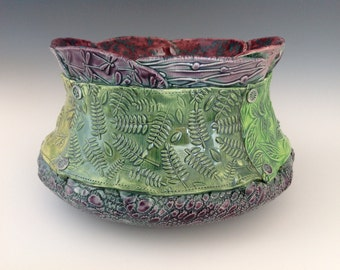 Green and Purple Funky Bowl