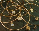 Charm Bangle goldfill semi precious